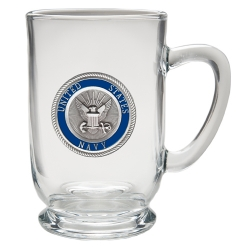 Navy Clear Coffee Cup - Enameled