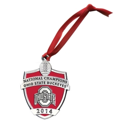 2014 BCS National Champions Ohio State Buckeyes Ornament - Enameled