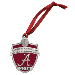 2015 CFP National Champions Alabama Crimson Tide Ornament - Enameled