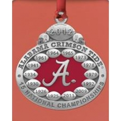 2012 BCS National Champions Alabama Crimson Tide Ornament - Enameled