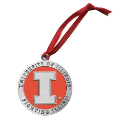 University of Illinois Ornament - Enameled