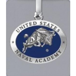 """Naval Academy """"Bill the Goat"""" Ornament - Enameled"""