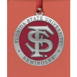 Florida State University Ornament - Enameled