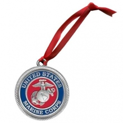 "Marine Corps ""USMC"" Ornament - Enameled"