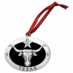 Texas Longhorn Ornament - Enameled