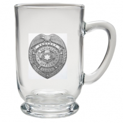 Law Enforcement Clear Coffee Cup