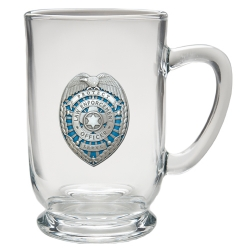 Law Enforcement Clear Coffee Cup - Enameled