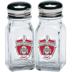 2014 BCS National Champions Ohio State Buckeyes Salt and Pepper Shaker Set - Enameled