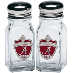 2015 CFP National Champions Alabama Crimson Tide Salt and Pepper Shaker Set - Enameled