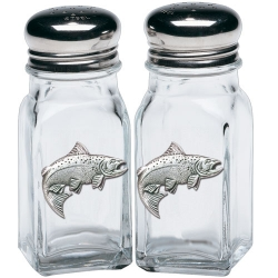 Salmon Salt and Pepper Shaker Set
