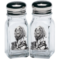 Wolves Salt and Pepper Shaker Set