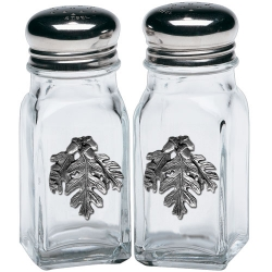 Oak Salt and Pepper Shaker Set