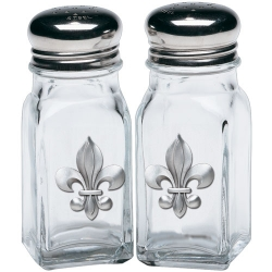 Fleur de Lis Salt and Pepper Shaker Set