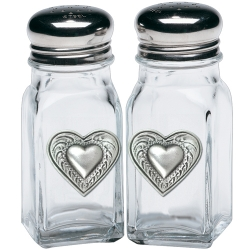 Heart Salt and Pepper Shaker Set