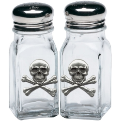 Skull & Bones Salt and Pepper Shaker Set