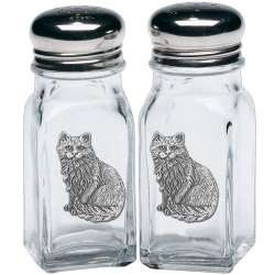 Cat Sitting Salt and Pepper Shaker Set