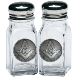 Masonic Square & Compass Salt and Pepper Shaker Set