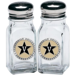 Vanderbilt University Salt and Pepper Shaker Set - Enameled