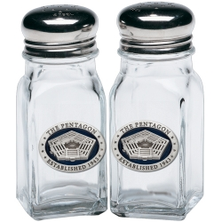 Pentagon Salt and Pepper Shaker Set - Enameled