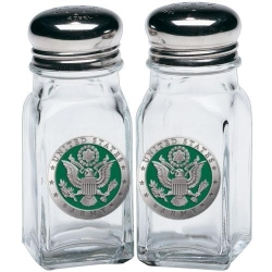 Army Salt and Pepper Shaker Set - Enameled