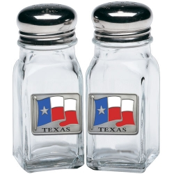 Texas Salt and Pepper Shaker Set - Enameled