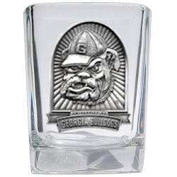 "University of Georgia ""Bulldog"" Square Shot Glass"