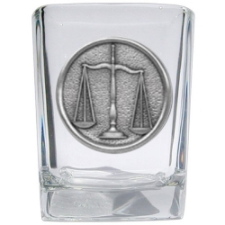 Law - Scales of Justice Square Shot Glass