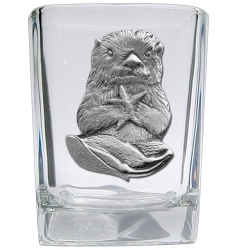 Sea Otter Square Shot Glass