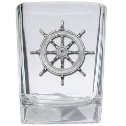 Ship Wheel Square Shot Glass