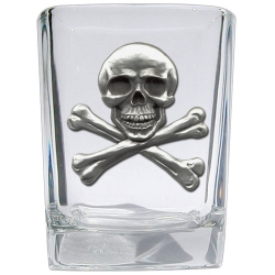 Skull & Bones Square Shot Glass