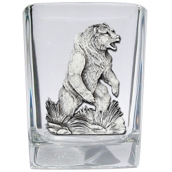 Grizzly Bear Square Shot Glass