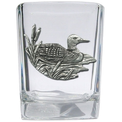 Loon Square Shot Glass