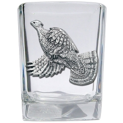 Ruffed Grouse Square Shot Glass