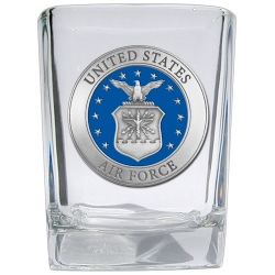 Air Force Square Shot Glass - Enameled