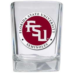 "Florida State University ""FSU"" Square Shot Glass - Enameled"