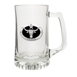 Texas Longhorn Super Stein - Enameled