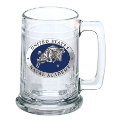 """Naval Academy """"Bill the Goat"""" Stein - Enameled"""