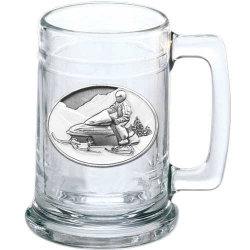 Snowmobile Stein - Enameled