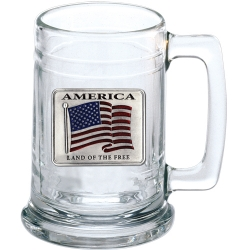 US Flag Stein - Enameled
