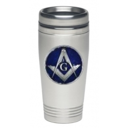 Masonic Square & Compass Thermal Drink - Enameled
