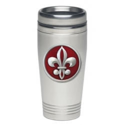 Fleur de Lis #2 Thermal Drink - Enameled