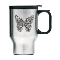 Butterfly Thermal Travel Mug