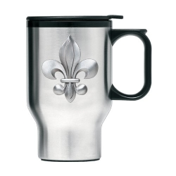 Fleur de Lis Thermal Travel Mug
