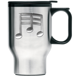 Musical Notes Thermal Travel Mug