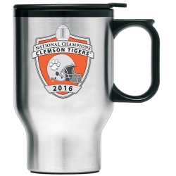 2016 CFP National Champions Clemson Tigers Thermal Travel Mug - Enameled