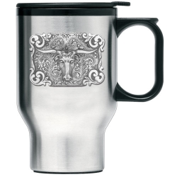 Texas Longhorn Bull Thermal Travel Mug
