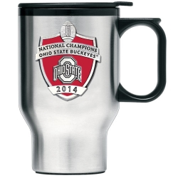 2014 BCS National Champions Ohio State Buckeyes Thermal Travel Mug - Enameled