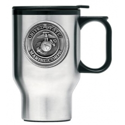 "Marine Corps ""Bulldogs"" Thermal Travel Mug"