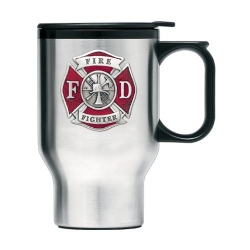 Firefighter Thermal Travel Mug - Enameled