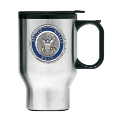 Navy Thermal Travel Mug - Enameled